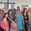 Rev. Dr. Neitzel poses with congregants in Porto Allegre, Brazil