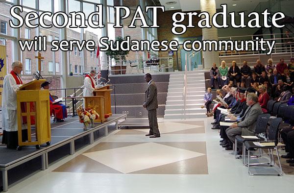 Second PAT graduate will serve Sudanese community