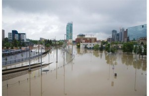Parts of East Village were flooded on Friday, June 21, 2013.Photograph by: Tijana Martin, Calgary Herald