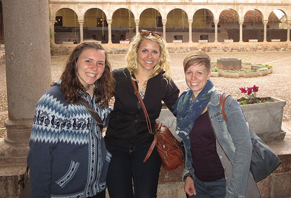 Sarah McCrae, Stephanie Bohl, and Jenny Steinke (CLWR Administration Coordinator) in Peru