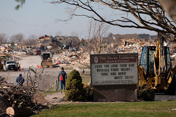 Call for prayer following tornadoes, storms in American Midwest