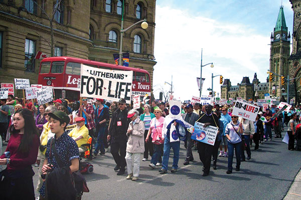 Lutherans join the March for Life in Ottawa.