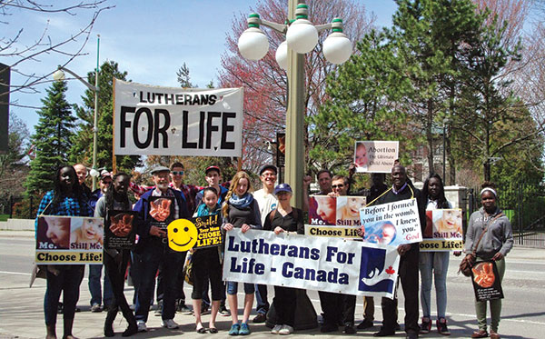 Lutheran participants at the March for Life.