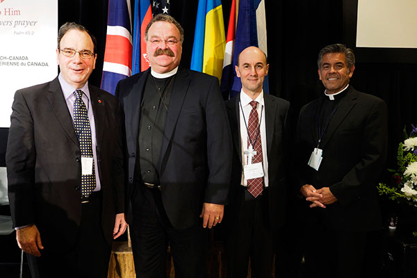 President Robert Bugbee (LCC), President Matthew Harrison (LCMS), Bishop David Altus (LCA), and Rev. Dr. David Wendel (NALC).
