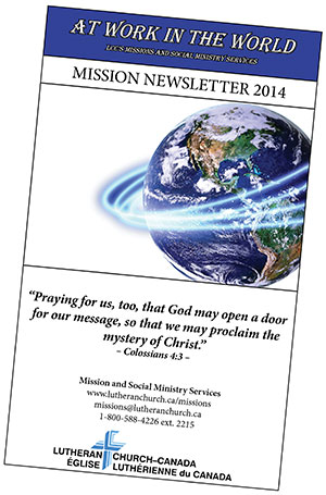 LCC:2014 Missions Newsletter now available