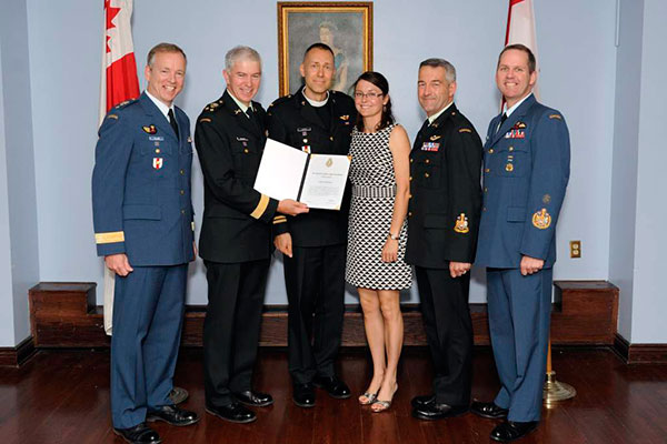 LCC chaplain receives one of the Armed Forces' highest commendations