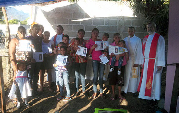 Eight children were baptized in Olanchito in May.