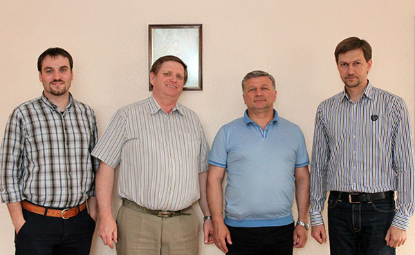 SELCU's new Commission on Theology and Practice: Rev. Oleg Schewtschenko, Bishop Viktor Gräfenstein, Rev. Alexander Yurchenko, and Rev. Alexey Navrotskyy.