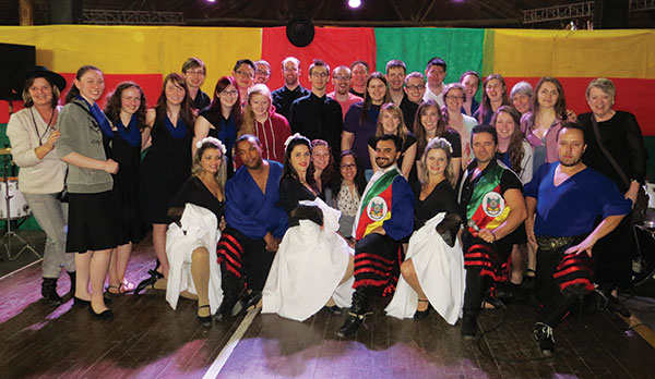 Concordia Concert Choir with gaucho performers, Porto Alegre.