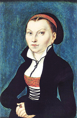 Portrait by Lucas Cranach the Elder (c. 1530).