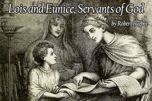 Lois and Eunice teach Timothy from the Scriptures (by William James Webbe, c. 1893).