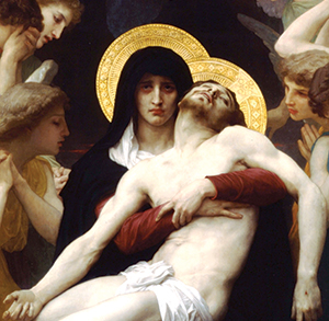 "Detail from William-Adolphe Bouguereau's 1876 ""Pietà."""