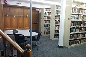 The seminary library ready to open in Fall 2015.