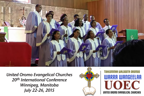 An Oromo choir sings at the 2015 United Oromo Evangelical Churches conference in Winnipeg.