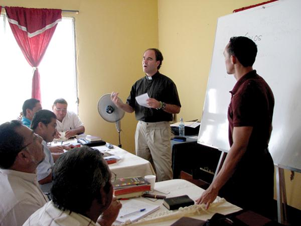 Rev. Brian Dunlop teaching Greek in Chinandega, Nicaragua.