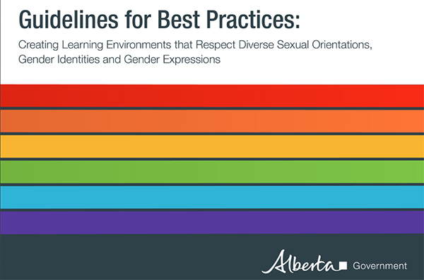 From the cover of the Alberta Government's new proposed guidelines on gender identity for schools.
