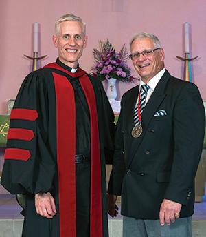 CLTS President Thomas Winger poses with Stephen Klinck.