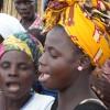 Mozambican women sing.