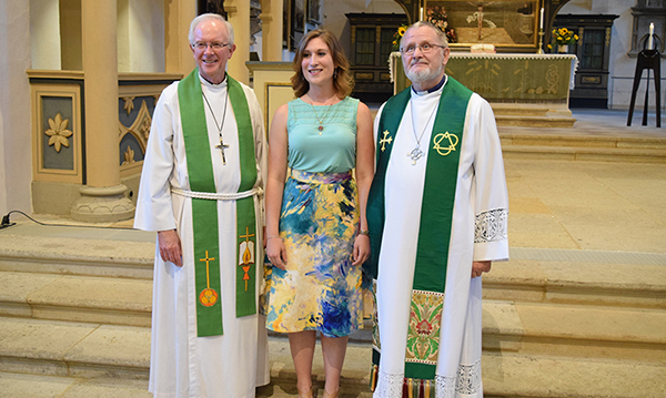 Present and former directors of the Wittenberg Project: Rev. David Mahsman, Kristin Lange, and Rev. Dr. Wilhelm Torgerson.