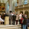 Lutheran Church—Missouri Synod President Matthew Harrison and Independent Evangelical Lutheran Church of Germany Bishop Hans-Jörg Voigt pronounce absolution to conference goers at the closing service in St. Mary's Church.