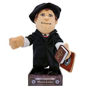 Martin Luther plushy from Reformation Gear.