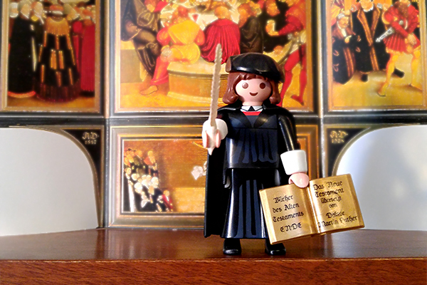 Playmobil's popular Martin Luther figurine.