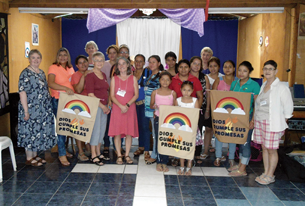 LWMLC members meet with Nicaraguan women in Matagalpa.
