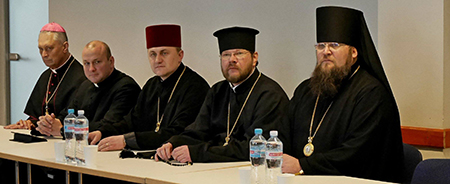 Ecumenical guests at the Eastern European Lutheran Bishops Conference. (Photo: Facebook page of the Evangelical Lutheran Cathedral of the Apostle Paul).