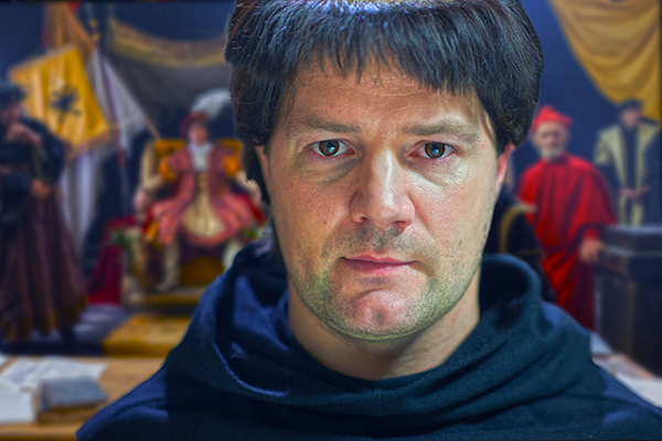 Padraic Delany stars as reformer Martin Luther in Martin Luther: The Idea that Changed the World. (Image: Courtesy Boettcher+Trinklein Inc.)