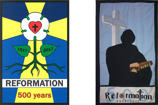 Reformation anniversary banners.