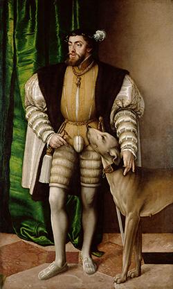 Emperor Charles V. (Painting by Jakob Seisenegger, 1532).