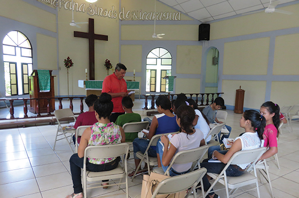 The chapel of the Mission Centre in Chinendega, seen during a recent study event.