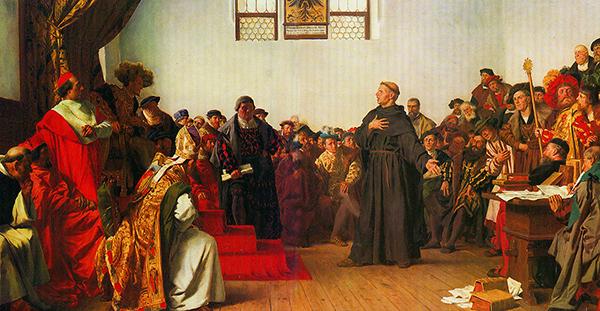 Martin Luther at the Diet of Worms (Anton von Werner, 1877).
